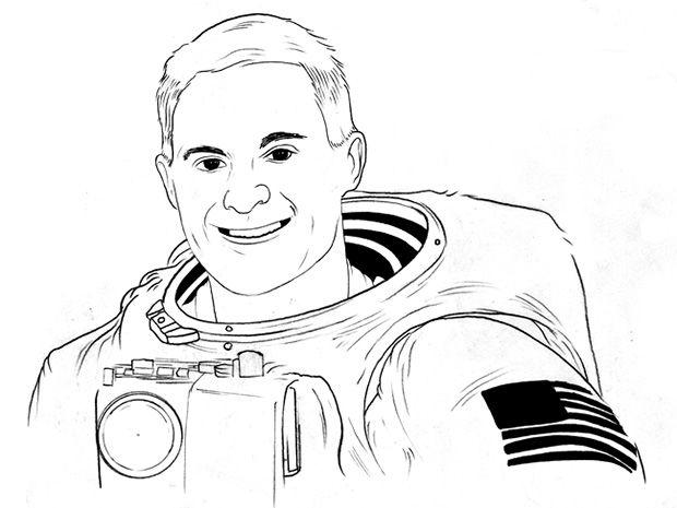 Sketch of David Wolf