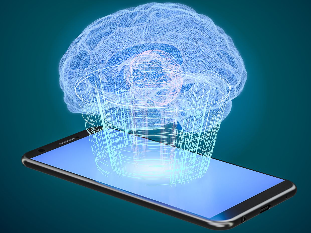 Smartphone with a brain