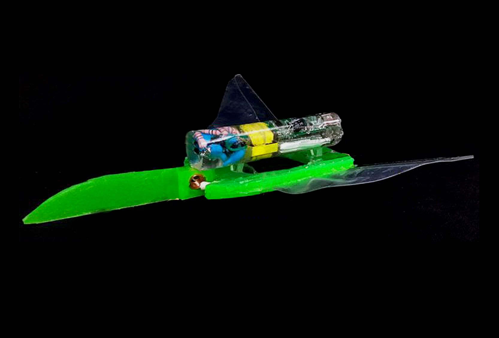 Soft Robotic Swimmer Is Fast, Resilient and Electric Shock-Free