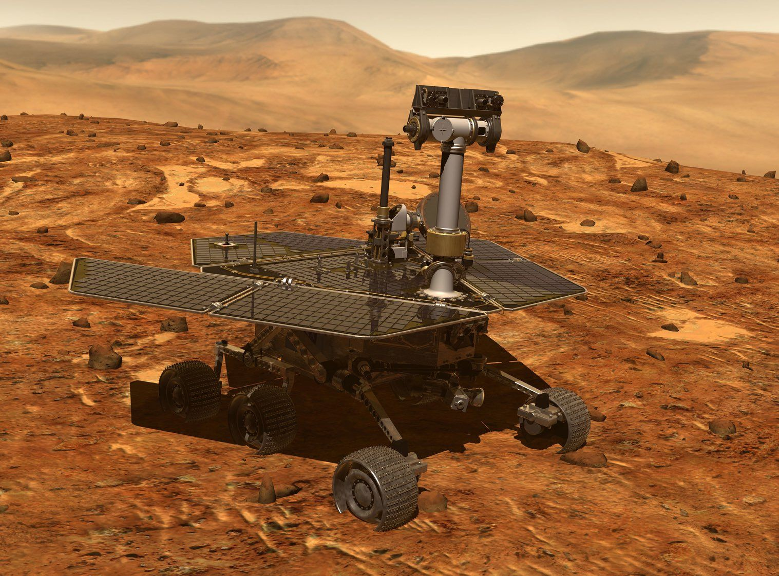 Spirit and Opportunity landed in 2004, and their mission was scheduled to last 90 days. Spirit survived for six years, and Opportunity operated until June 2018, when NASA lost communication with the rover after a severe Mars-wide dust storm. NASA official