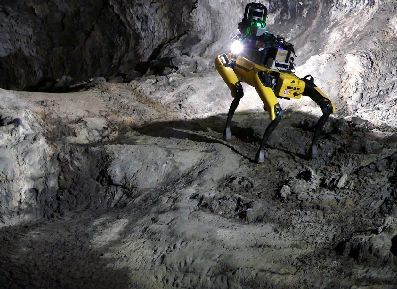 Spot robot explores lava cave