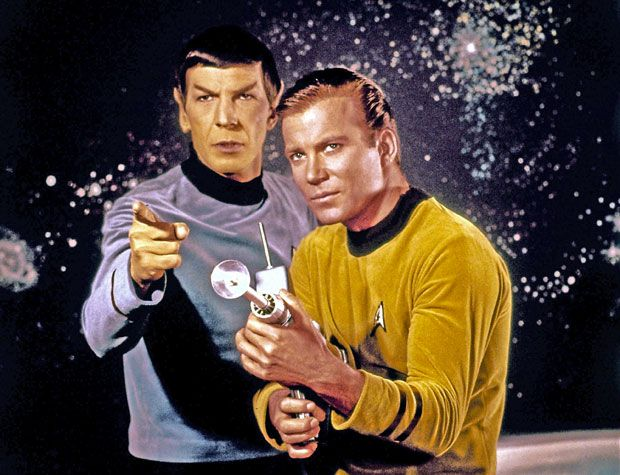 Star Trek's Spock and Captain Kirk