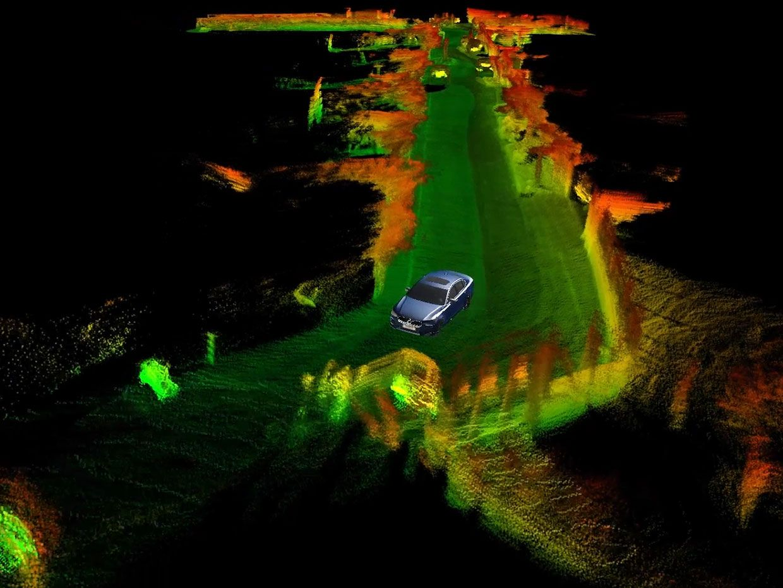 Still image from Innoviz showing Innoviz LiDAR Based SLAM.