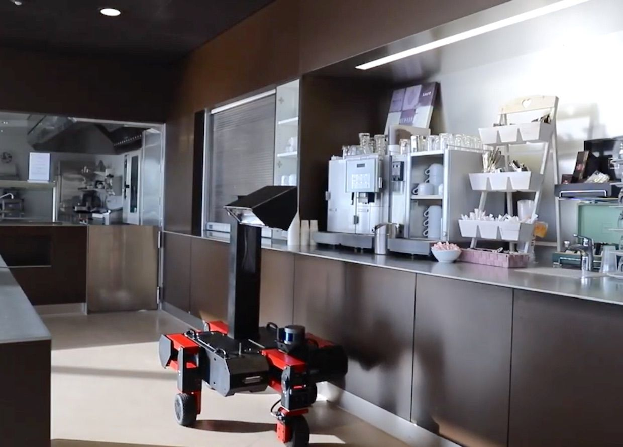 Swiss startup Rovenso is developing a UV disinfection robot against coronavirus
