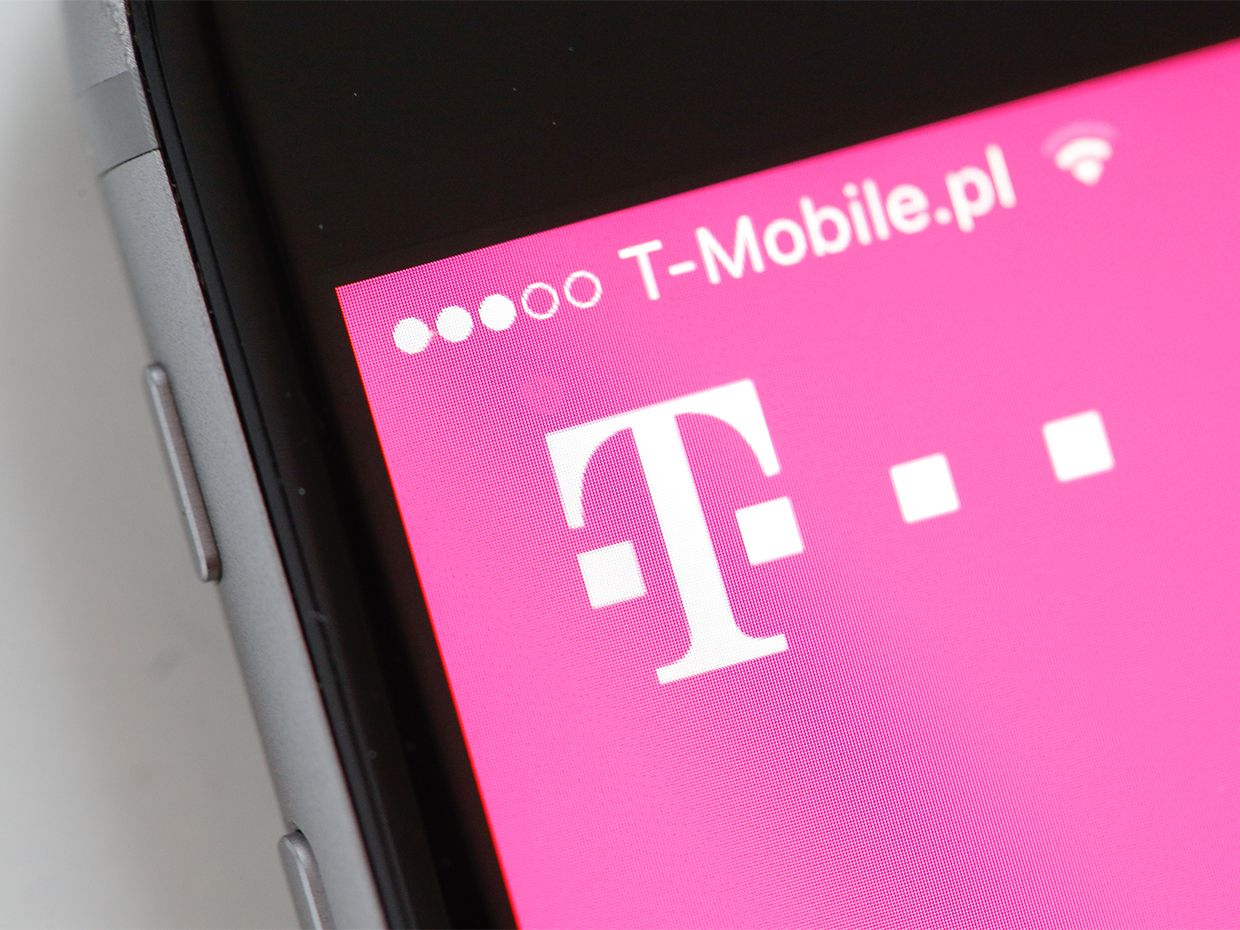 T-Mobile App shown on a phone