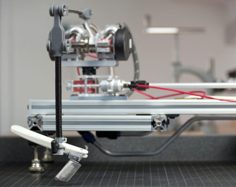 Teleoperated razor shaving robot created by John Peter Whitney at Northeastern University