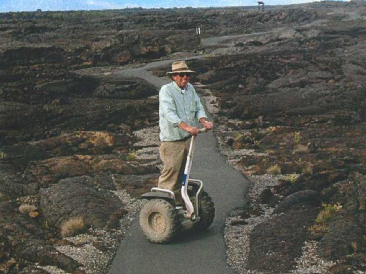 The author's father, at the Craters of the Moon lava flows in Idaho.