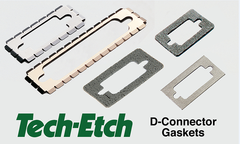 The company has five standard sizes of 9, 15, 25, 37, and 50-pin configurations, available in stainless steel, beryllium copper, X, Y, Z axis conductive foam, and metalized fabric consisting of a metalized fabric over a polyurethane foam core.