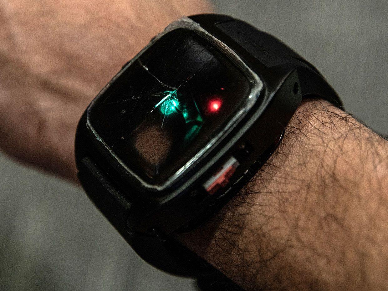 The device on around someone's wrist