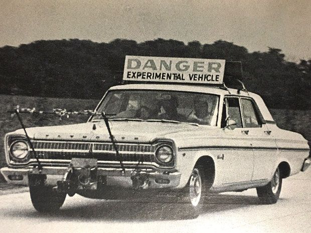 The early days of autonomous vehicle research