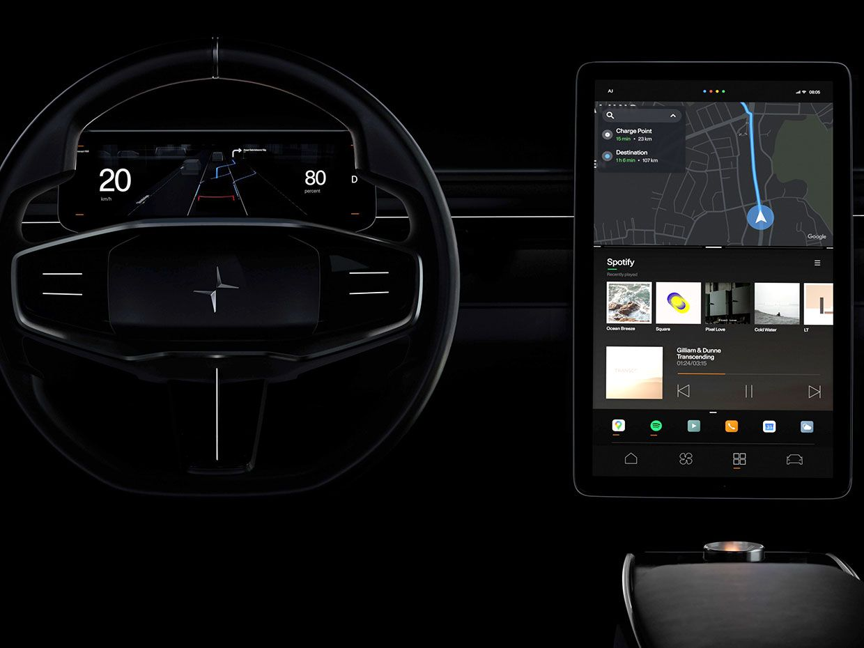 The NEXT-GEN Android OS system in the Polestar Precept.