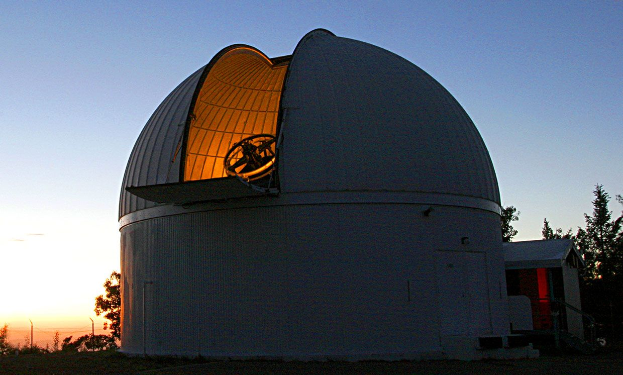 The University of Arizona's Catalina Sky Survey telescope, to which astronomers have added an automated search system to rapidly respond to gravitational wave detections from the LIGO and VIRGO observatories in the U.S. and Italy.