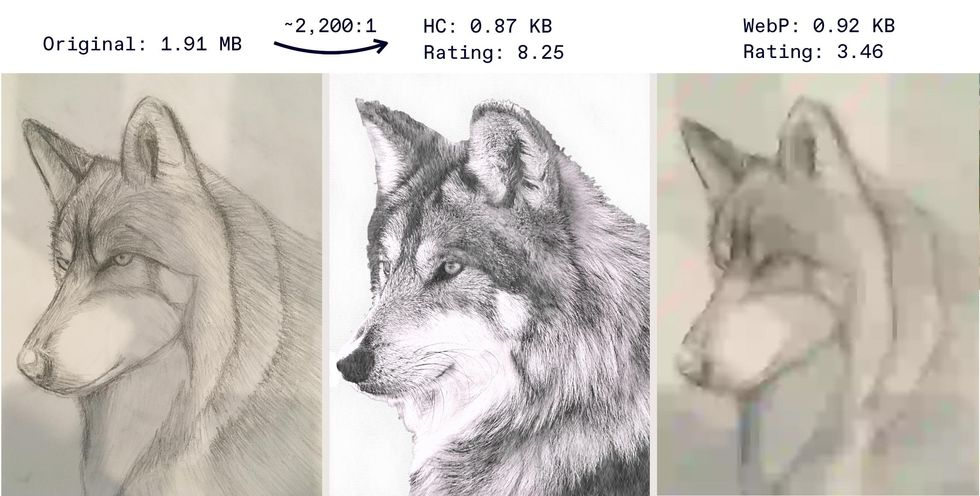 Three images showing a wolf's head