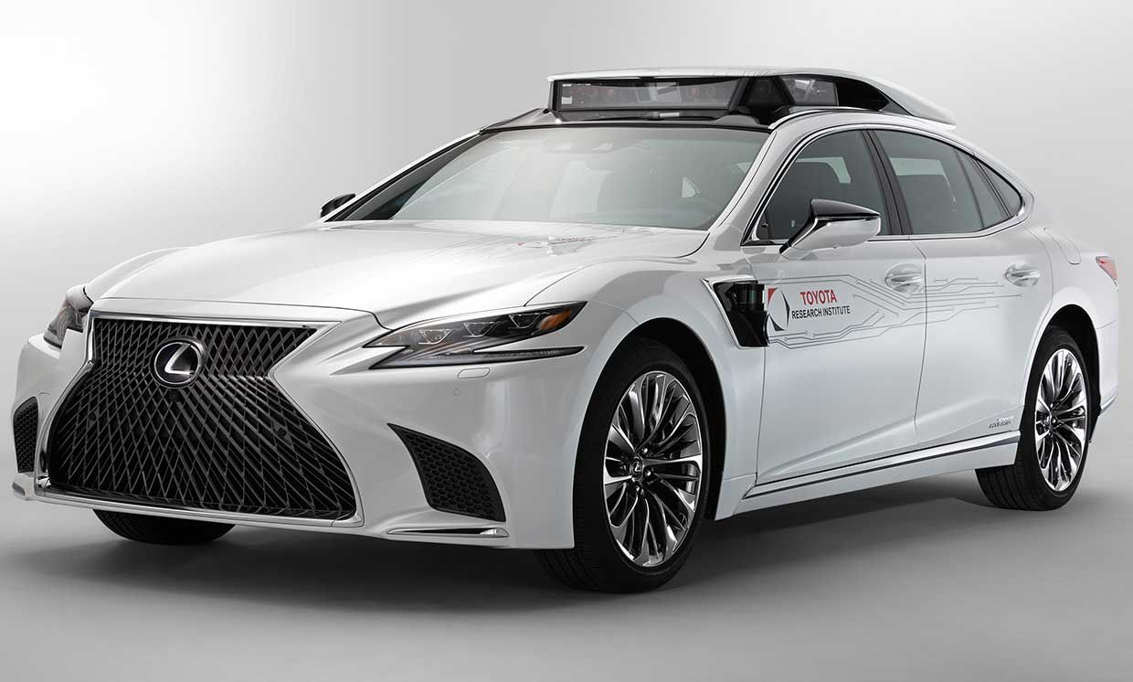 Toyota's P4 Automated Driving Test Vehicle.
