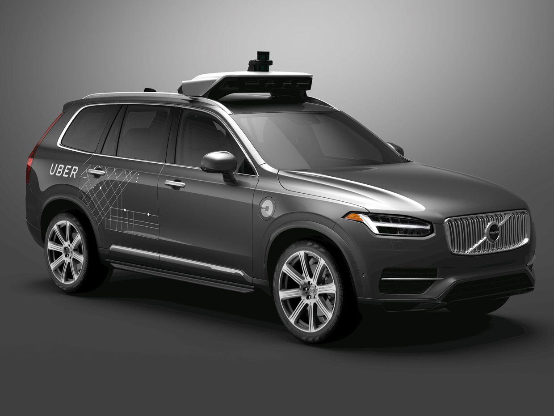 uber version of volvo xc90 self-driving suv