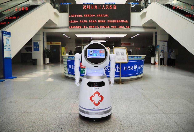 UBTECH Robotics' Cruzr robot at Shenzhen COVID-19 hospital