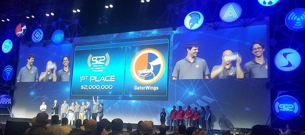 University of Florida team GatorWings took first place during DARPA's Spectrum Collaboration Challenge.