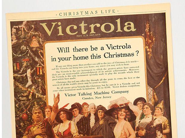 Vintage ad for Victrola