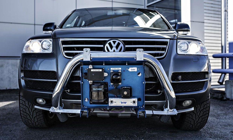VTT's autonomous car Martti with his environment perception system.