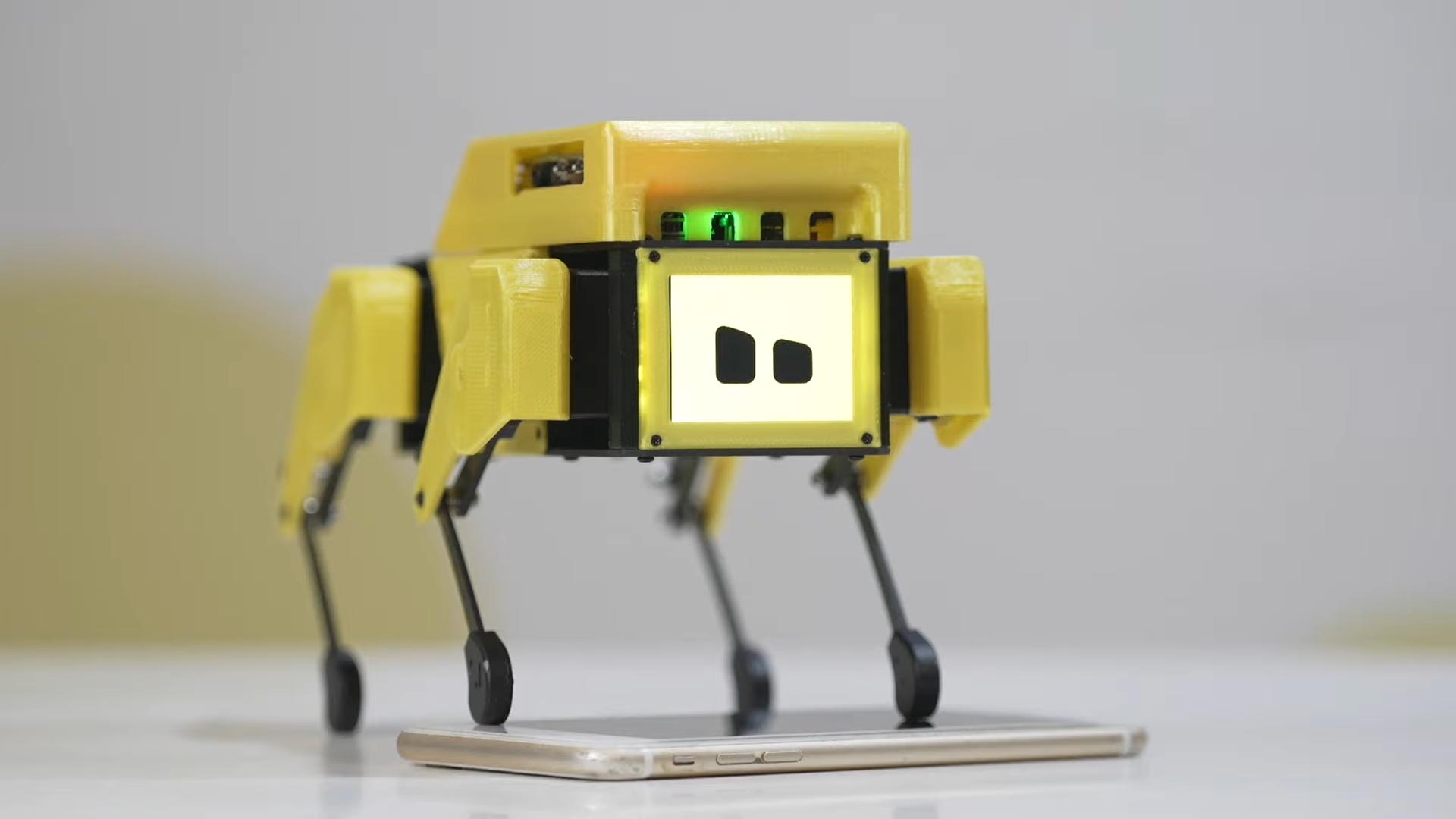 yellow robot puppy